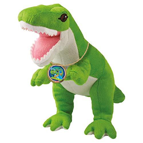 EcoBuddiez - Tiranosaurio Rex de Deluxebase. Peluche Mediano de 20 cm elaborado con Botellas de plástico recicladas. Lindo Peluche ecológico con Forma de Dinosaurio para niños pequeños.