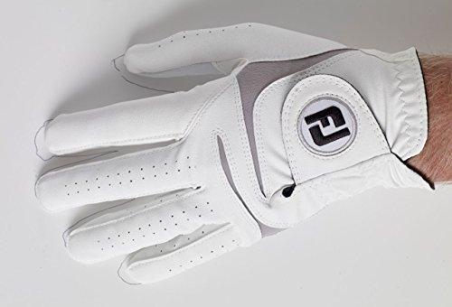 Footjoy Weathersof Golfhandschuh, Herren S Weiß/Grau