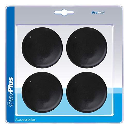 Einddop kunststof zwart in 4 stuks in blisterverpakking Rund Ø60mm zwart