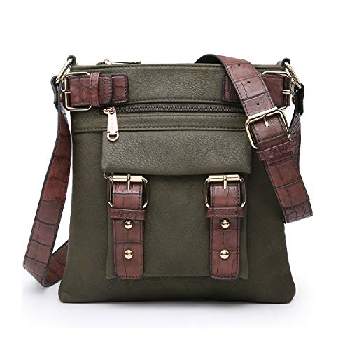 [High Quality Material]: This soft lightweight crossbody bag is made of high quality VEGAN LEATHER (PU) with buffalo leather textures. Eco-friendly and No animals were harmed. Highly anti-scratch and tear-resistant. [ Stylish Design ]: Detailed with ...
