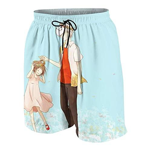 XCNGG Pantalones cortos para niños para correr Hotarubi Ginn No Mori E Teen Beach Pants con bolsillos S (7-8)