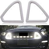 Adhesivo Insignia Capucha Delantera de la Rejilla del Coche Blanco LED LED DRL Luces de Funcionamiento diurnas compatibles con Ford Mustang 2015 2016 2017 Insignia Etiqueta