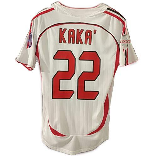 22 Número 07 Kaka Temporada para Hombre Retro Camiseta del Fútbol, Aficionados Inzaghi Traje De Fútbol Superior De Secado Rápido Personalizadas Personalizado,con D NO.22-S