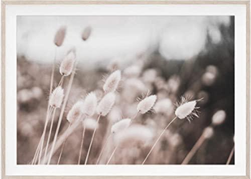 Botanischer Garten Herbst getrocknete Blumen hängen an der Wand natürliche Pampa Gras Poster niedliche Wandkunst Leinwand Malerei Raumdekoration Bild 40 * 60 Rahmenlos