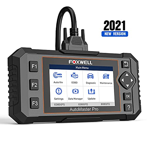 FOXWELL NT614 Elite OBD2 Scanner ABS SRS Transmission Diagnostic Tool with Oil Light & EPB Reset, Check Engine Code Reader, Airbag Car Diagnostic Scanner for All Cars [Eng.&SPA.Version]