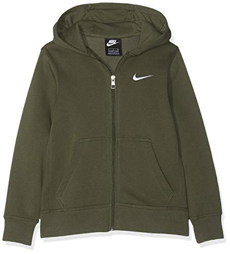 Nike Jungen B NSW Hoodie YA76 BF FZ Sweatshirt, Cargo Khaki/White, S