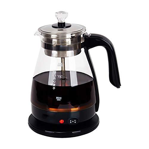 2 in 1 Teekocher und Wasserkocher elektrisch 1.2L Automatic Tea Maker Brüh-Funktion (Teeaufbereiter) Warmhaltefunktion,BPA-frei,Digitale Kaffeemaschine(600W)
