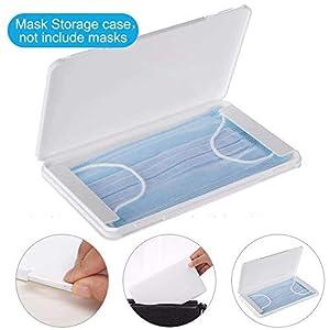 Scatola di maschere per maschere e per proteggere le maschere da sporco e polvere. Facile apertura delle ciglia. Può contenere fino a 5 maschere.