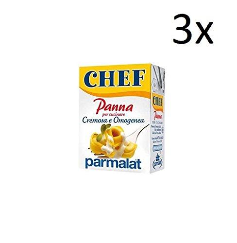3x Parmalat Panna chef Sahne per cucinare Kochcreme creme fur Koch 200ml