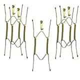 Xinlinke Plate Hangers for The Wall 8 inch Decorative Dish Display Tray Holder with Installation Hooks 5 Pack