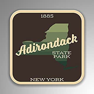JMM Industries Adirondack State Park New York Vinyl Decal Sticker Retro Vintage Look 2-Pack 4-inches by 4-inches Premium Quality UV Protective Laminate SPS403