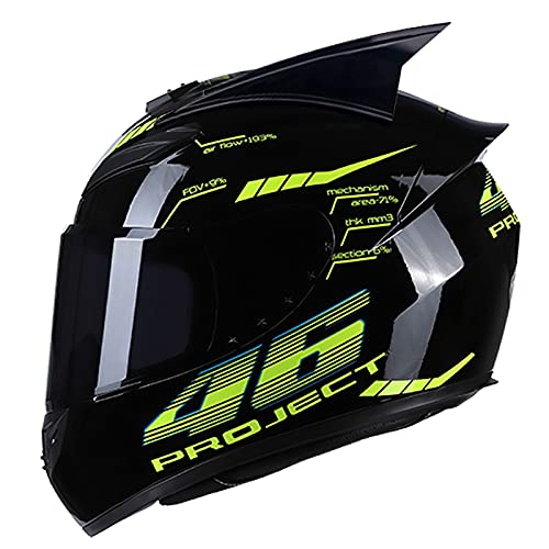 Casco per Moto Casco Moto Integral,ECE Homologado Casco Moto Flip Up Visera para Mujer y Hombre Adultos Casco Moto para Mofa Piloto Crash Cruiser Chopper Scooter Racing C,XL=61~62cm