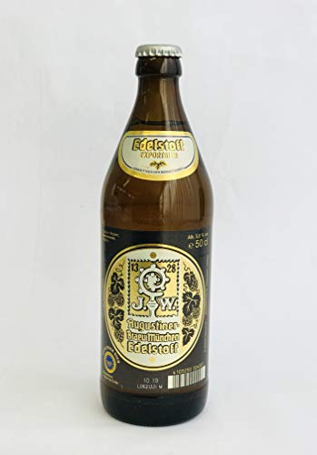 Augustinerbräu - Edelstoff Exportbier (12 Flaschen à 0,5 l / 5,6% vol.)