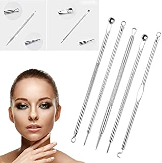 ICYCHEER Blackhead Remover Tool Set 5 Pcs Versatile Removal Kit with Stainless Steel Needle Treatment for Acnes Whiteheads