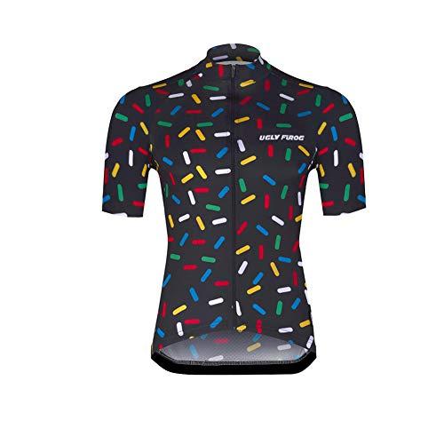 Uglyfrog 2021 Frühling Sommer Neu Herren Fahrradtrikot Kurzarm Radtrikot Fahrrad Trikot Fahrradbekleidung für Männer Atmungsaktive Cycling Jersey Radsport Bekleidung