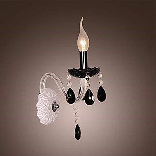The only good quality decoratie zwarte kristallen wandlamp met kaarslamp, 220-240V Villa