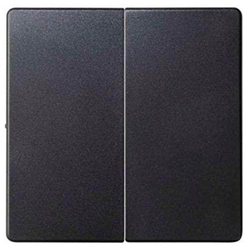 Tapa doble interruptor, conmutador, serie 82, 1 x 5,5 x 5,5 centímetros, color negro (referencia: 8202126-098)