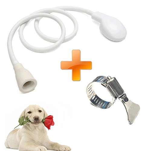Pet Faucet Sprayer, Dog Shower Head Spray Drains Strainer Pet Bath Hose Sink Washing Hairdresser Hair Wash Pet Push Saving Shower with Adjustable Stainless Steel Worm Gear Hose Clamps(2pc)