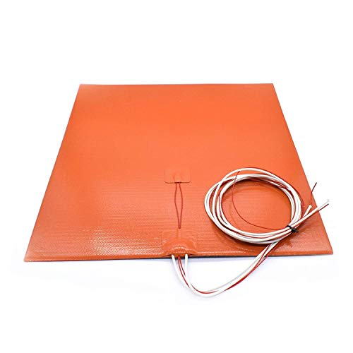 Silicone Heated Bed Heating Pad Flexible Waterproof 200x200/220220/300x300/400 mm 12V/220/110 V for 3D Printer Parts hot Bed 3D Printing Accessories (Size : 400mm 24V 800W) (Size : 400mm 24V 800W)