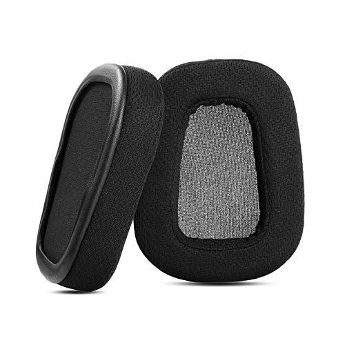 Ersatz-Ohrpolster, kompatibel mit Logitech G935 G635 G933 G633 Wireless Gaming Headset Ohrenschützer Abdeckungen (Stoff-Ohrpolster)