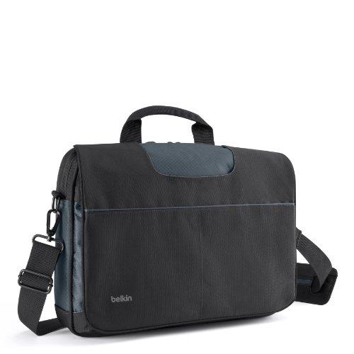 Belkin B2B076-C00 Messenger Tasche (geeignet für Notebook bis 33 cm (13 Zoll)) schwarz/grau