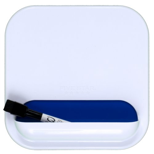 """Five Star Locker Accessories, Combo Dry Erase Board and Storage Pocket, 7"""" x 7"""", White with Cobalt Blue Pocket (72606)"""