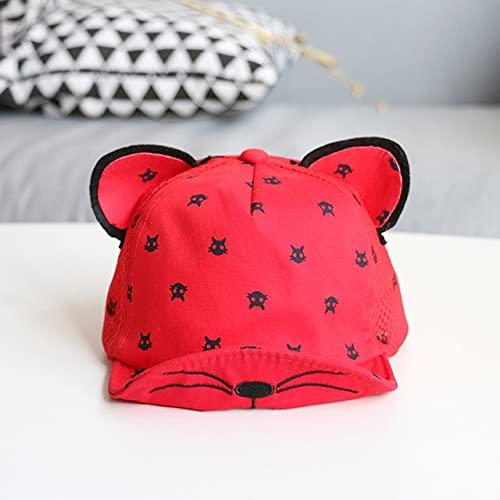 Bonita Gorra de bebé para bebé, Gorra de béisbol para bebé, Primavera, Verano, niños, Sombrero de algodón para el Sol, Sombreros con Visera para Exteriores-Red Style 4