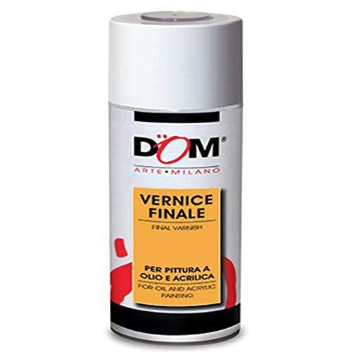 Bomboletta 400 ml fissativo spray trasparente lucido dom 627 finale protettivo per disegni pittura ad olio ed acrilica