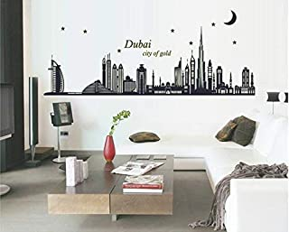 The Full Review Of Dubai Wall Sticker Glowing Wall Decor Creative Home Decoration Dubai City Of Gold