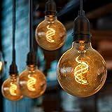 Gresonic LED einzelne Edison Glühbirne Set Batteriebetrieben ,wasserdicht Beleuchtung deko für...