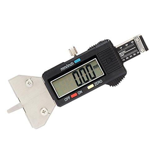 Misuratore digitale della profondità del battistrada, 25 mm   1 pollice, conversione metrica pollici, strumento di misurazione elettronico