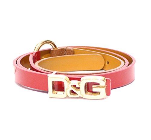 Dolce & Gabbana D&G Cintura donna Asta dritta Nappa Vernice DC0604E71D col. Rosso-Marrone tg. 90 cm