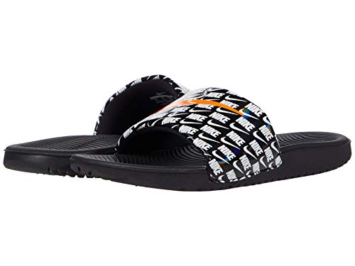 Nike Kids Kawa Slide SE 2 (Little Kid/Big Kid) Black/Total Orange/White 4 Big Kid M