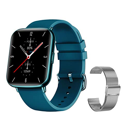 LAB X27 Smart Watch Men's Women's IP68 IP68 A Prueba De Agua Reloj Bluetooth Ejercicio Fitness Tracker Ritmo Cardíaco Monitoreo del Sueño para Android iOS,L