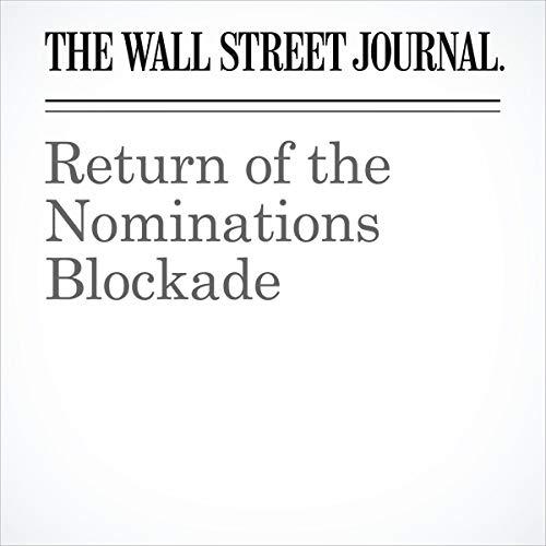 Return of the Nominations Blockade audiobook cover art
