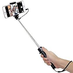 有線でシャッター操作できるので電波法を気にせず使える自撮り棒