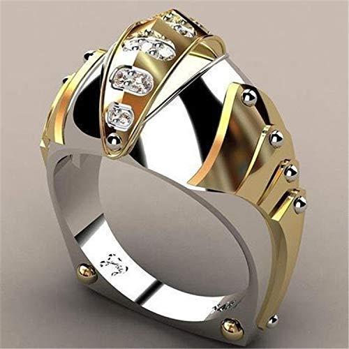 ASEDRF Amerikanische Mode-Goldfarben-Geist des Chinesische Ritter-Ethnischer Art-Punk Schmuck Viking Edelstahl-Keltischer Knoten-Ring,6