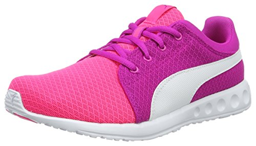 Puma Unisex-Kinder Carson Runner 400 Mesh Jr Low-Top, Pink (Knockout pink White 04), 39 EU