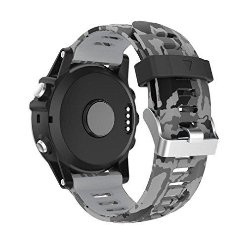 TPulling, cinturinodi ricambio per orologio e GPS da polso del marchio Garmin Jia Ming Fenix 3, in silicone, morbido e naturale, d