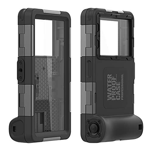 AdirMi Estuche de Buceo Funda Impermeable Universal para iPhone 12 Pro Max/12 Pro/12/12 Mini/11 Pro Max/11 Pro/11/X/XS/XS MAX/XR Galaxy S21 Ultra/S21+/S21/S21 FE/A72/A52/A52 de hasta 6.9'