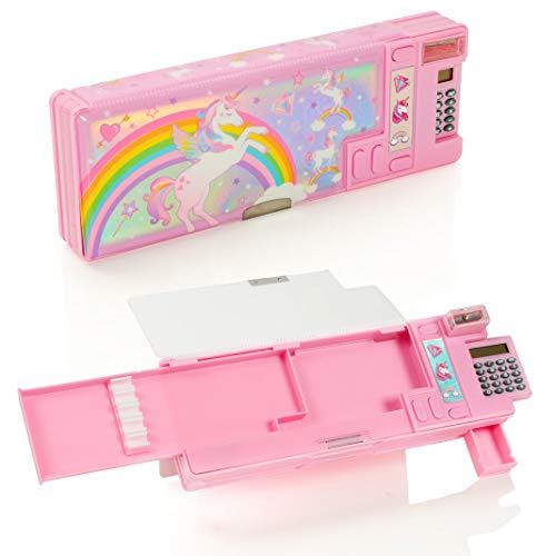 Style Girlz Unicorn Pop Out School Estuche para lápices - Set de papelería multifunción para niñas