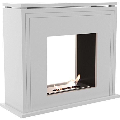 Fantastic Deal! Domadeco Amarillo tunell - white free standing designer bio fireplace/contemporary f...