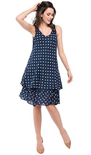Bonamaison Vätska långklänning för kvinnor med rullad rund krage och vardagliga fickor
