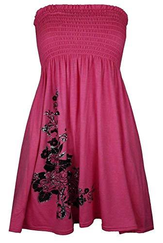 Mini vestido con purpurina floral para mujer