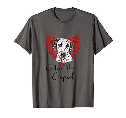 Dálmata Cuter Than Cupip Perro Día San Valentín Camiseta