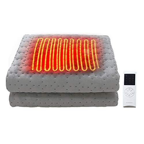 chinejaper 150x80cm Heizdecken fürs Bett mit Abschaltautomatik Überhitzungsschutz, Kuscheldecke aus Flanell Wärmedecke mit 10 Temperaturstufe Timerfunktion, Waschbar
