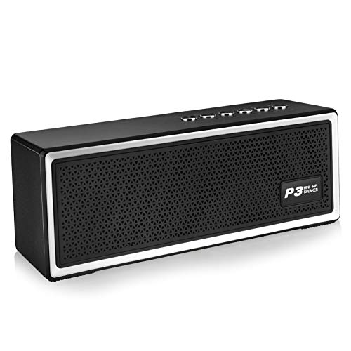 Bluetooth Speaker, 20W Wireless Speaker with Micro SD/Aux/FM, 12h Playtime, Exclusive Bass+ Bluetooth 4.2 Portable Speaker, IPX5 Water-Resistant, Built-in Microphone, Perfect for Travel Home Outdoor