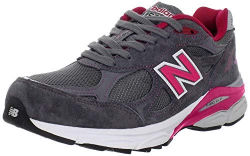 New Balance Women's 990V3 Running Shoe (9 M US, Grey/Purple)