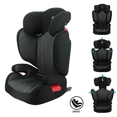 Siège auto rehausseur enfant Evolutif FLASH Isofix et/ou ceinture groupe 2/3 (15-36kg) protection latérale et dossier inclinable