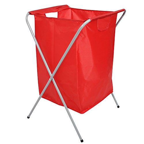 COM-FOUR® wasmand opvouwbaar in rood, wasmand met een inhoud tot 50 liter